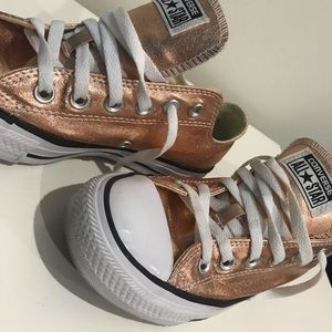 Converse Shoes | Rose Gold Converse | Color: Gold